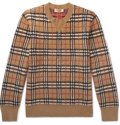 Burberry Knits & Sweaters Cashmere U-Neck Long Sleeves Knits & Sweaters