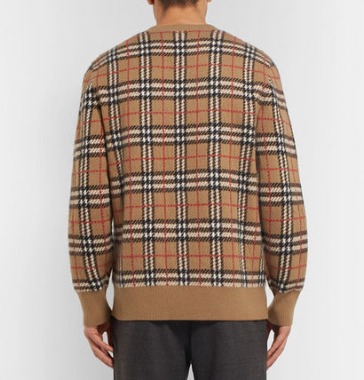 Burberry Knits & Sweaters Cashmere U-Neck Long Sleeves Knits & Sweaters 3