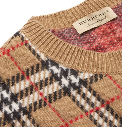 Burberry Knits & Sweaters Cashmere U-Neck Long Sleeves Knits & Sweaters 5
