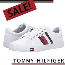 Tommy Hilfiger Stripes Casual Style Plain Low-Top Sneakers