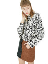 Fuza Leopard Patterns Casual Style Street Style Long Sleeves