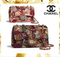 CHANEL Flower Patterns 2WAY Chain Elegant Style Shoulder Bags