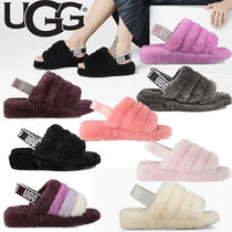 UGG Australia Casual Style Sheepskin Plain Sandals