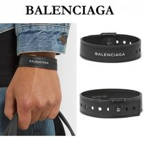 BALENCIAGA Unisex Leather Bracelets
