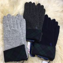 Ralph Lauren Other Check Patterns Casual Style Plain Gloves Gloves