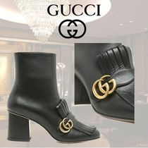 GUCCI Leather High Heel Boots