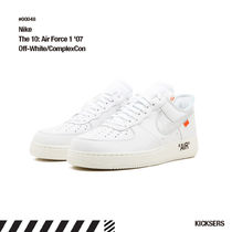 Off-White Unisex Street Style Collaboration Plain Leather Sneakers