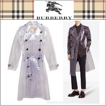 Burberry Plain Long Trench Coats