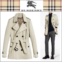 Burberry Short Plain Trench Coats
