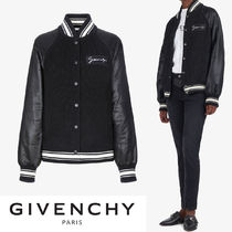 GIVENCHY Blended Fabrics Street Style Plain Medium Varsity Jackets