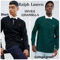 Ralph Lauren Street Style Long Sleeves Plain Polos