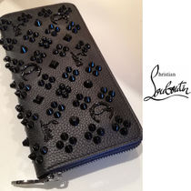 Christian Louboutin Panettone  Unisex Calfskin Studded Plain Long Wallets