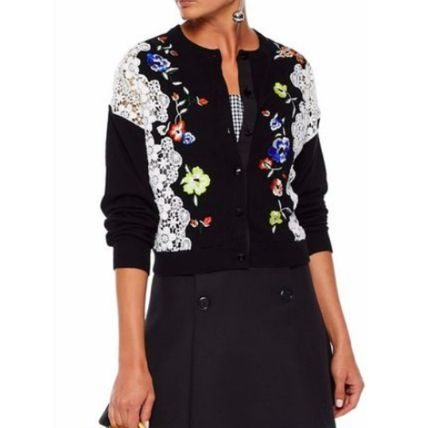Flower Patterns Long Sleeves Cotton Medium Party Style