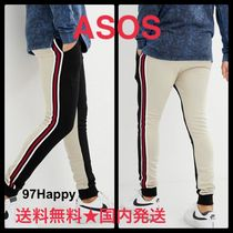 ASOS Stripes Sweat Street Style Plain Skinny Fit Pants