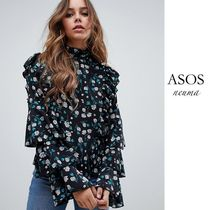 ASOS Flower Patterns Casual Style Street Style Long Sleeves