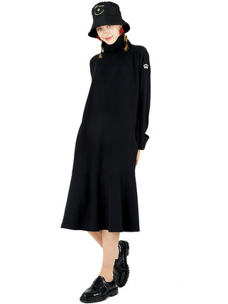 Casual Style Maxi Street Style Collaboration Long Sleeves