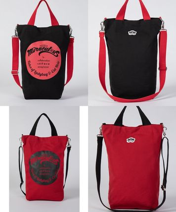 Casual Style Street Style Collaboration A4 2WAY Totes