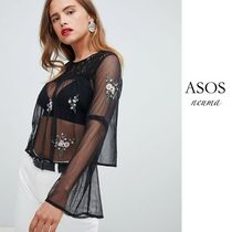 ASOS Casual Style Blended Fabrics Street Style Long Sleeves Lace
