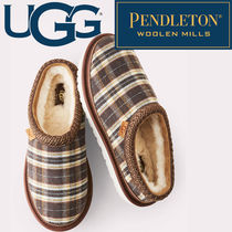 UGG Australia TASMAN Tartan Plain Toe Fur Blended Fabrics Collaboration