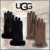 UGG Australia Wool Plain Smartphone Use Gloves