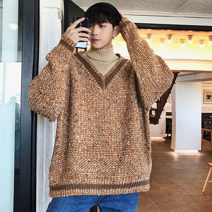Knits & Sweaters Street Style Long Sleeves Knits & Sweaters 15