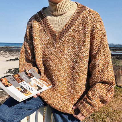 Knits & Sweaters Street Style Long Sleeves Knits & Sweaters 16