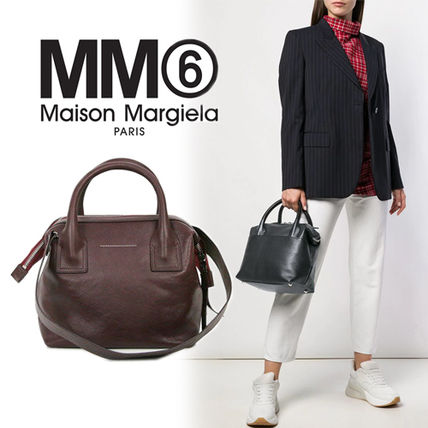 Casual Style Street Style 2WAY Plain Leather Bold