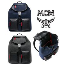 MCM Lambskin A4 Backpacks