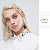 ASOS Long Sleeves Plain Cotton With Jewels Shirts & Blouses