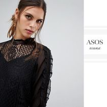 ASOS Flower Patterns Long Sleeves Lace Shirts & Blouses