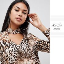ASOS Leopard Patterns Long Sleeves Shirts & Blouses