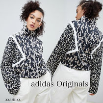 adidas Leopard Patterns Blended Fabrics Medium Varsity Jackets