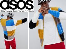 ASOS Short Other Check Patterns Blended Fabrics Street Style MA-1