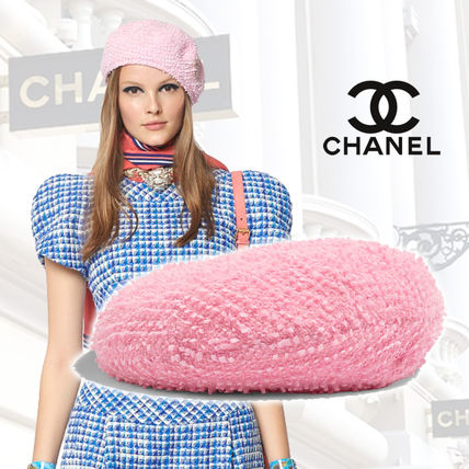 7b447124362 ... CHANEL Beret   Huting Blended Fabrics Street Style Home Party Ideas  Beret ...