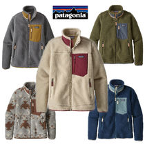Patagonia Retro X Casual Style Long Sleeves Tops