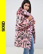 ASOS Casual Style Faux Fur Other Animal Patterns Coats