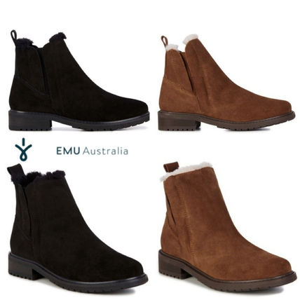 Sheepskin Plain Chelsea Boots Ankle & Booties Boots