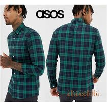 ASOS Other Check Patterns Street Style Long Sleeves Cotton Shirts