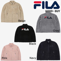 FILA Casual Style Unisex Suede Collaboration Jackets
