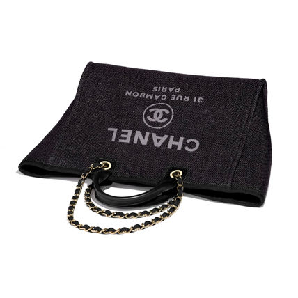 CHANEL Totes Casual Style Unisex 2WAY Chain Totes 4