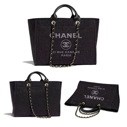 CHANEL Totes Casual Style Unisex 2WAY Chain Totes 5