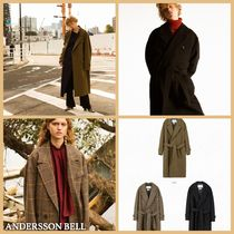 ANDERSSON BELL Unisex Wool Plain Long Elegant Style Chester Coats