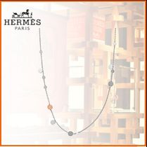 HERMES Chaine dAncre Chain Silver Elegant Style Necklaces & Pendants