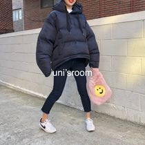 Short Casual Style Street Style Plain Oversized Down Jackets