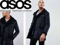 ASOS Suede Street Style Plain Long Oversized Chester Coats