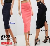 ASOS Plain Medium Elegant Style Midi Skirts