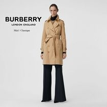 Burberry THE KENSINGTON Plain Long Trench Coats