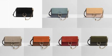 fdb55f59ff962 ... Chloe More Accessories Calfskin Blended Fabrics Bi-color Chain Plain  Accessories ...