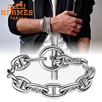HERMES Chaine dAncre Street Style Chain Silver Bracelets