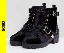ASOS Casual Style Velvet Ankle & Booties Boots